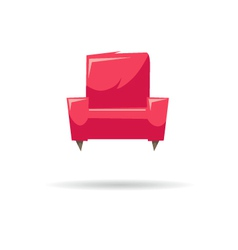 Armchair isolated on a white backgrounds vector image