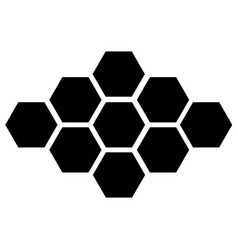 black hexagon icon on white background eps vector image vector image