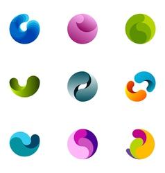 logo design elements set 15 vector image vector image