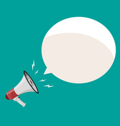 loudspeaker or megaphone and speech balloon vector image vector image