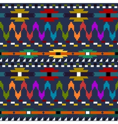 Seamless geometric pattern in Indian style vector image vector image
