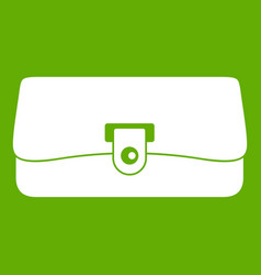 small wallet icon green vector image