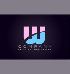 uj alphabet letter join joined letter logo design vector image