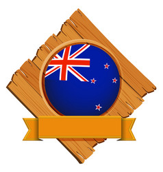 badge design for flag of new zealand vector image vector image