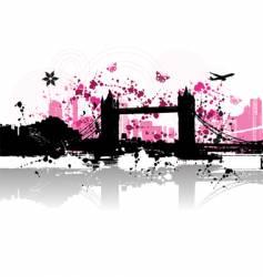 cityscape background urban art vector image vector image