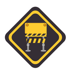 construction barrier sign icon vector image