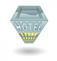 Hotel illustration vector