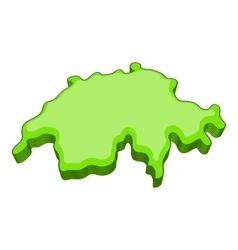 Map of switzerland icon cartoon style vector