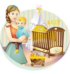 mother nursery vector image vector image