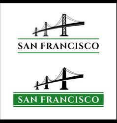 san francisco bridge vector image