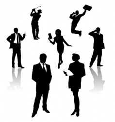 silhouette of business people vector image
