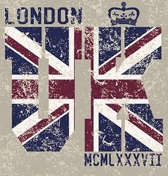 T-shirt Printing design typography graphics London vector image