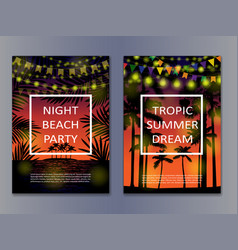 tropic posters mock up vector image
