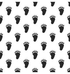 Animal paw seamless pattern vector