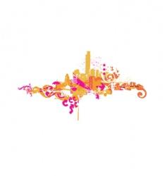 big city vector image