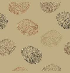 chocolate croissants pain au chocolat hand draw vector image vector image