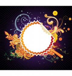 funky styled design frame vector image vector image