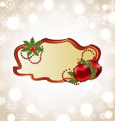 Greeting elegant card with Christmas ball vector image