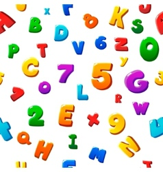 Seamless colorful children alphabet pattern vector image vector image