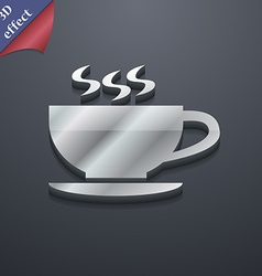 The tea and cup icon symbol 3D style Trendy modern vector image