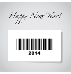 2014 barcode vector image vector image