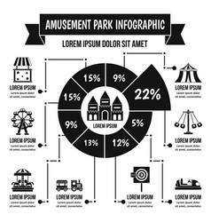 amusement park infographic concept simple style vector image vector image