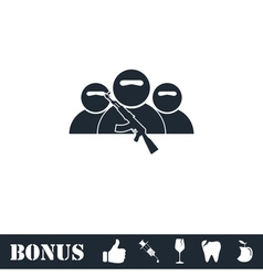 Bandit group icon flat vector image vector image