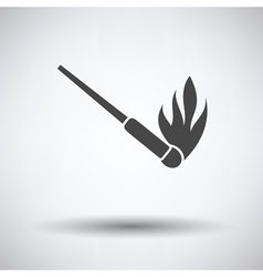 Burning matchstik icon vector image vector image