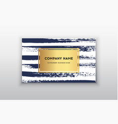 gold business card templates with brush vector image vector image
