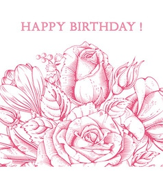 Luxury rose card vector image vector image