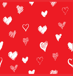 romantic pattern with hearts vector image vector image