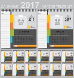 2017 Calendar planner design template Set of 12 vector image
