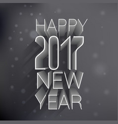 3d happy new year 2017 text on black background vector image
