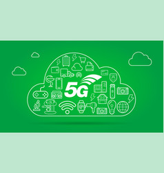 5g iot internet things smart home quality vector image