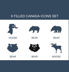 6 canada icons vector