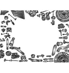 aftermarket spare parts vector image