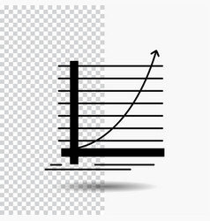 arrow chart curve experience goal glyph icon on vector image