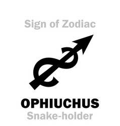 astrology sign of zodiac ophiuchus the vector image