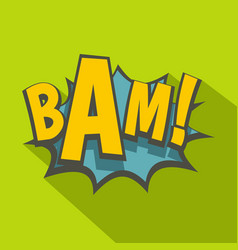 Bam comic book explosion icon flat style vector