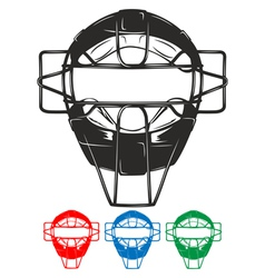 Baseball mask vector