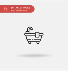 bathtub simple icon symbol vector image
