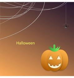 Black spider web paper pumpkin vector