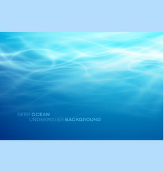 blue deep water and sea abstract natural vector image