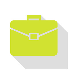 briefcase sign pear icon with flat vector image