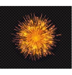 Bright shiny sparkling flash firework salute vector