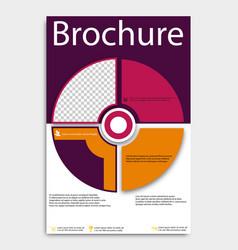 Brochure template flyer design background include vector