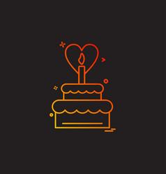 cake icon deisgn vector image