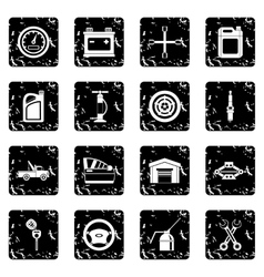 Car maintenance and repair icons set simple style vector