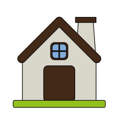 Color image cartoon facade comfortable house with vector