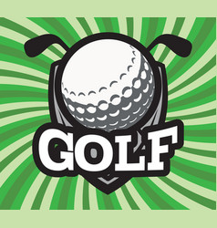 color sports template for golf team vector image